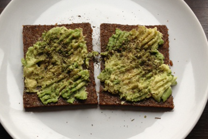 Brood met avocado