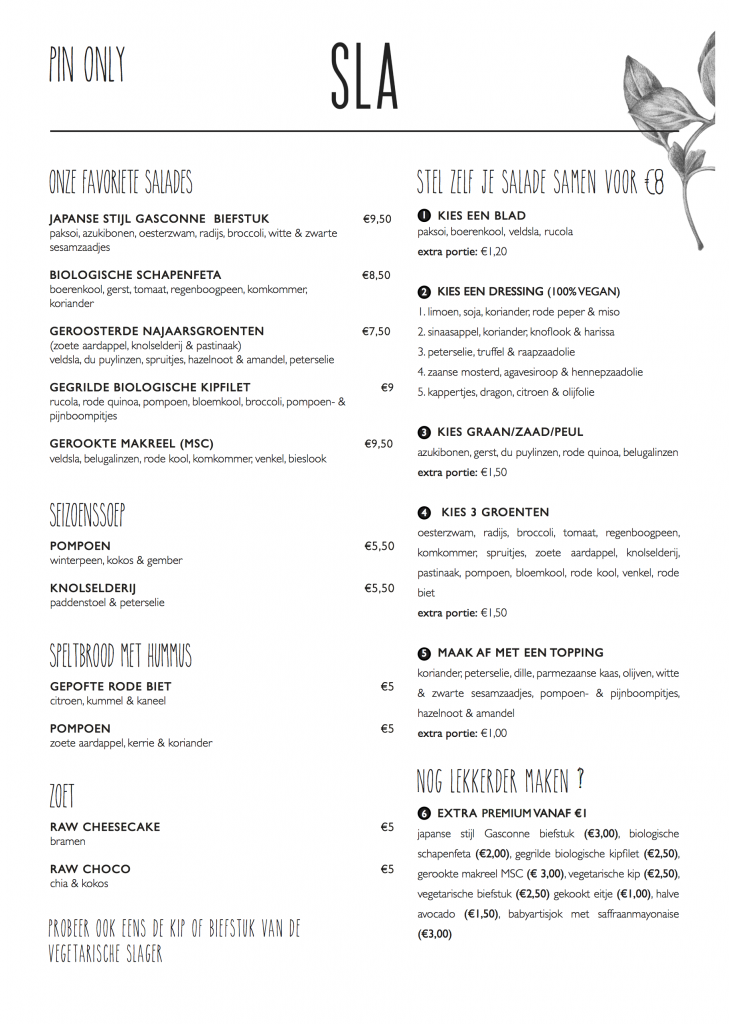menu sla