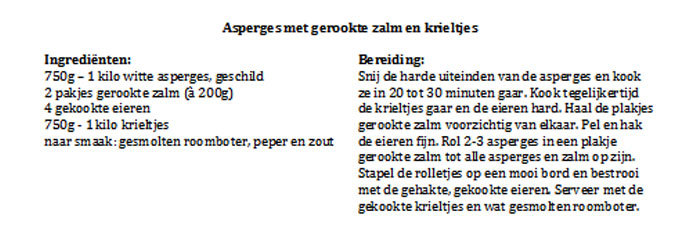 Asperge-recept-tabel