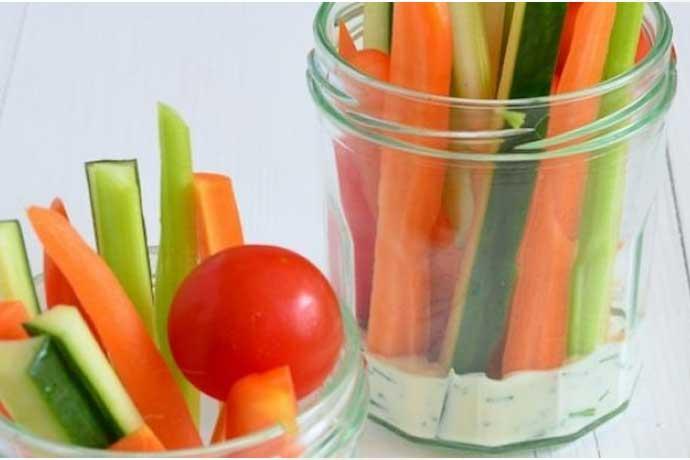 Gezonde snacks groente