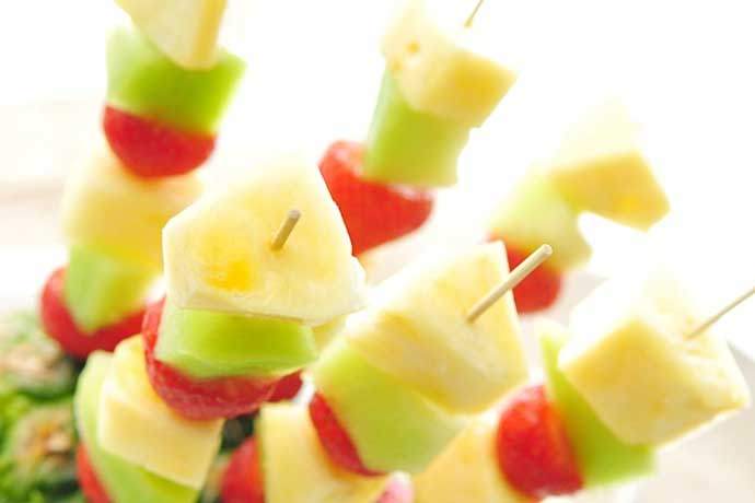 Gezonde snacks fruit