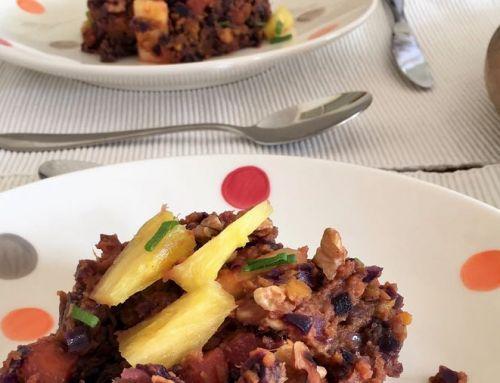 Maart recept: Rodekoolstamppot met zoete aardappel en ananas
