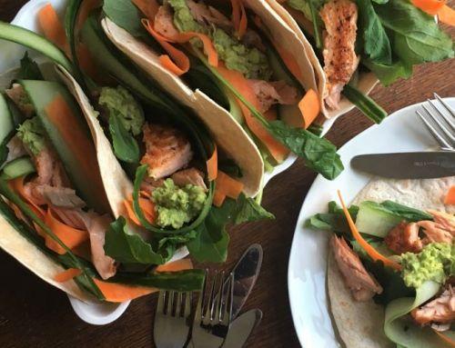Mei recept: Tortilla's met zalm, raapstelen en avocadospread
