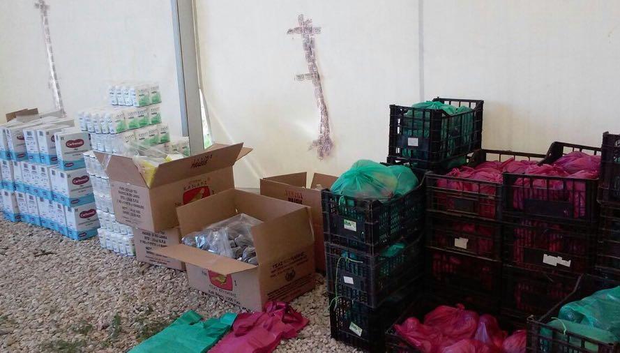 Voedingshulp in Griekse vluchtelingenkampen