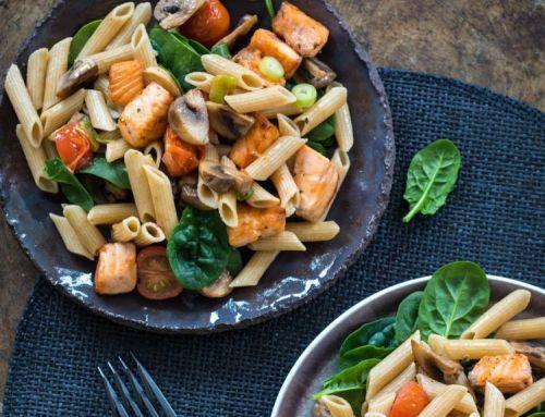 Eet als een atleet: recept #3 Pasta met zalm