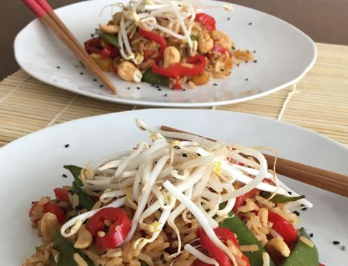 Zomer recept: Fried rice met sugarsnaps en cashewnoten