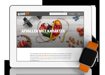 Recepten ontwikkeld & teksten geschreven voor e-book afvallen BasicFit