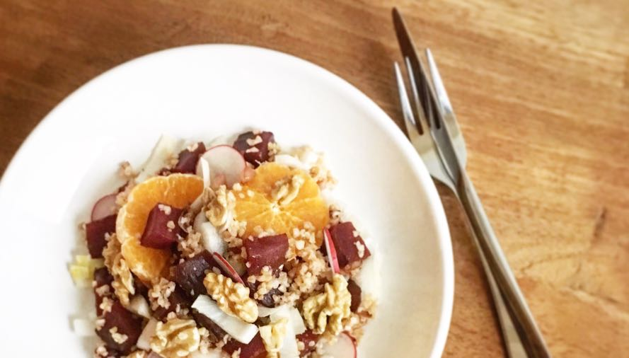 Februari recept- Bulgur met bietjes en mandarijn