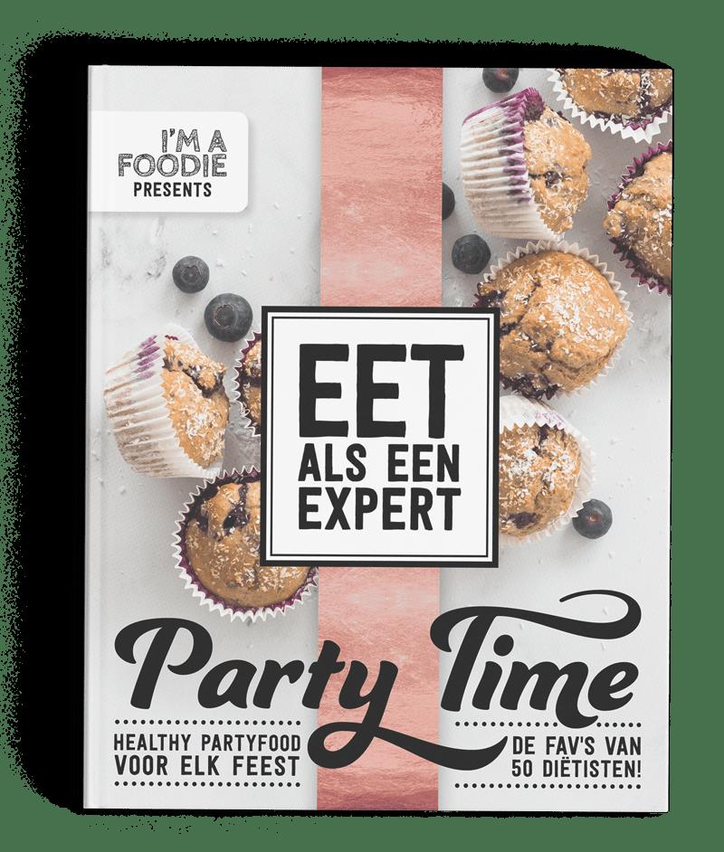 Cover I'm a Foodie - Party Time boek - Gezonde recepten feestje