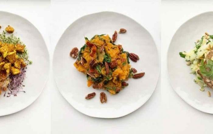 stamppot spinazie zoete aardappel met pecannoten
