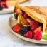 Volkoren pannenkoeken met fruit